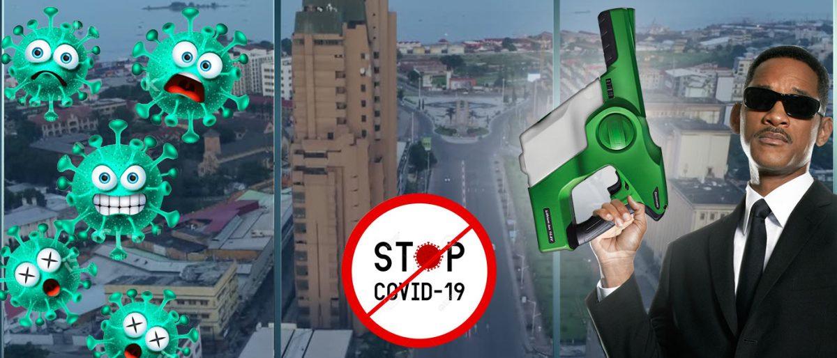 Permalien vers:Désinfection COVID par pulvérisation électrostatique